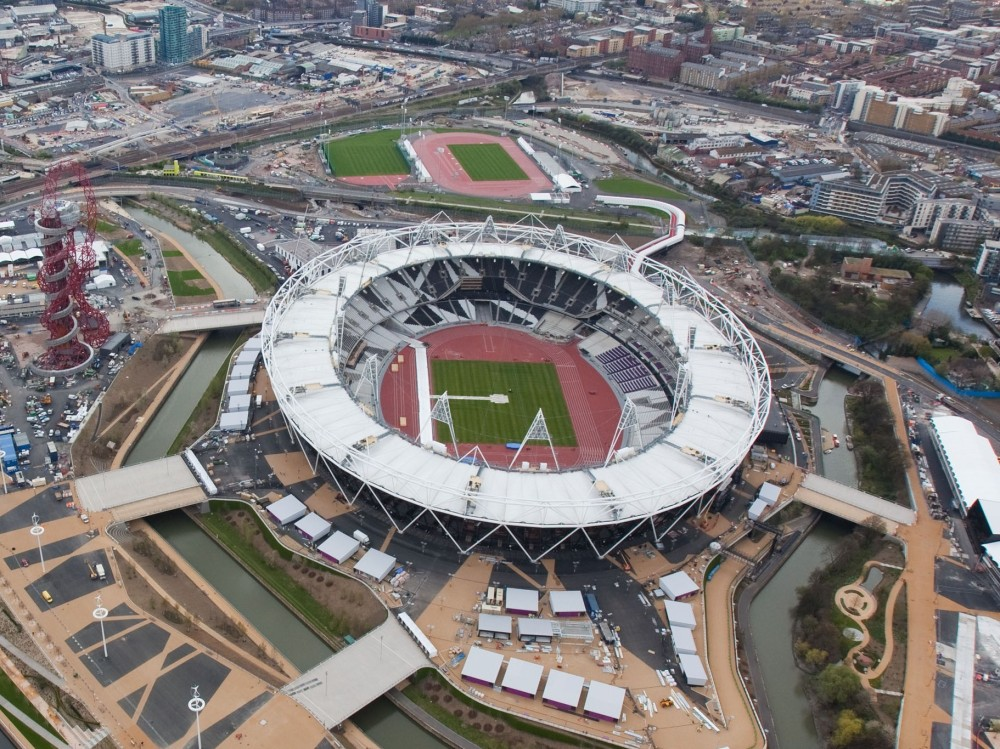 London 2012 Olympic Stadium from air